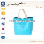 Recycle woven shopping tote bag