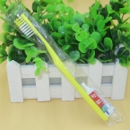 Disposable toothbrush with toothpaste for